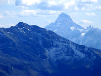 Even though it is quite far away, Mount Assiniboine still helps make this view incredible.