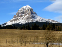Here is the more classic view of Crowsnest mountain from west of Coleman.