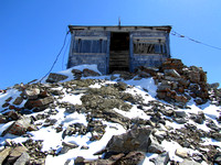 The Cameron Fire Lookout takes up the entire summit of Mount Burke. It is a beautiful old structure built in 1929 and has not been in use since 1953.