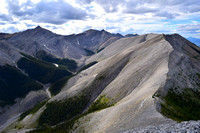 I have been up the peak on the left of this shot and even though it is unnamed it has a superior summit panorama. The Tiara is in the center of this shot.