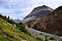 After leaving the Nigel Pass area, you area greeted with this view of the upper Brazeau River Canyon
