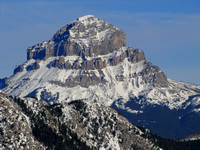 Here is a closer look at Crowsnest Mountain.