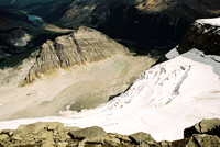 This is Observation's north glacier and the small peak is named Marmot Mountain.