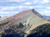 Festubert Mountain, with its greens and mauves, has to be one of the most unusually colored mountains I have ever seen.