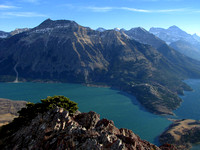 Vimy Peak is another mountain I would like to summit sometime. Middle Waterton Lake is below it.