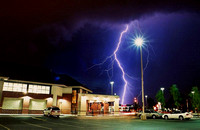 This is my favorite lightning shot that I took just across the street from my home in Calgary. The storm took place in summer 2004 and was one of the most powerful I have ever experienced.