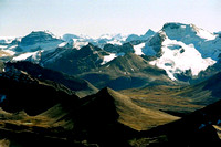 Sunwapta's panorama is full of amazing peaks like Mt. Saskatchewan (far left) and Athabasca (right).